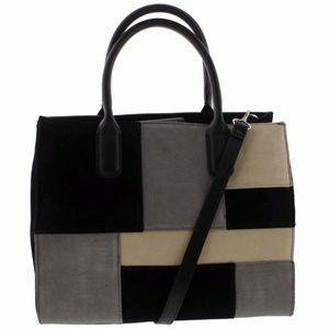 Giani Bernini Suede Patchwork Satchel Handbag